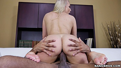 Pleasurable cowgirl interracial fucking with white girl AJ Applegate