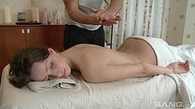 Sensual massage with petite 18 year old getting ready to fuck