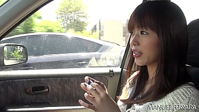 Asian cutie petite Marica Hase going for a drive with us