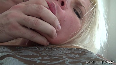 Rough sex petite blondie Anikka Albrite plowed in her cunt from the rear