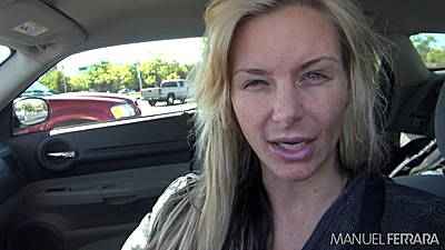 Blonde reality Phoenix Marie in public going for a walk