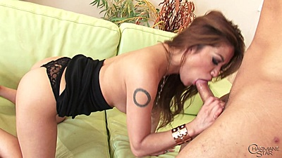 Lusty cock sucking asian Charmane Star with cowgirl ride