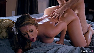 Harley Jade in intense doggy banging in bed