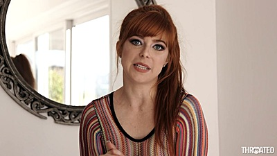 Superb looking redhead solo Penny Pax getting nude outdoors