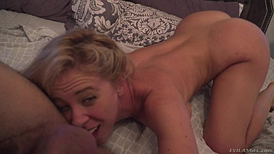 Bedroom raw milf fuck and licking mans ass in pov with bursty Cherie DeVille