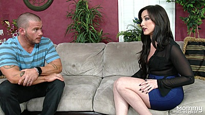 Fully clothed milf Jennifer White is ready for nuts