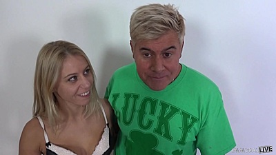 Playful blonde Nikki Thorne enters the fuck lucky session