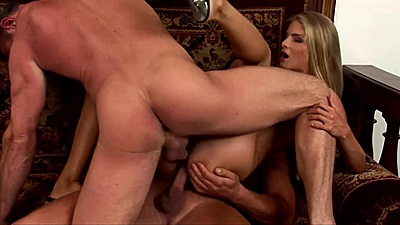 Double penetration with enticing slim body girl Cayenne Klein