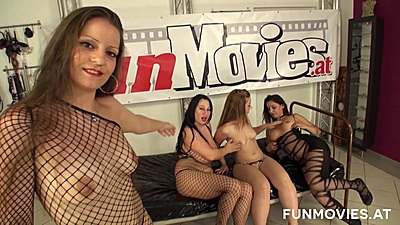 Fishnet group orgy sex with Lolita and Sissiemaus and Barbie Buster