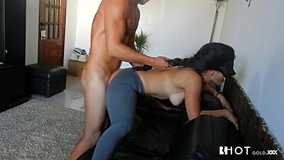 Bent over and drilled from behind ripped open yoga latina Diana Cu De Melancia