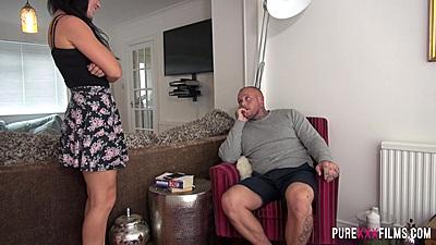 Sexy skirt Jasmin Lau teasing male