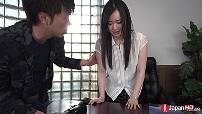Asian Yuka Wakatsuki in office casting needs to get naked