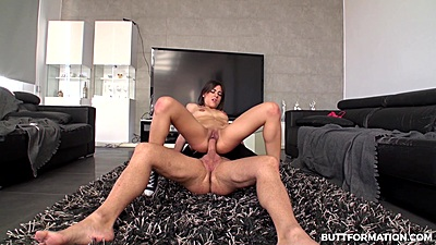 Personal trainer fucking his naked female petite client Ena Sweet