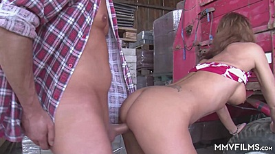 Farm fucking with dirty whore milf