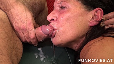 Facial cumshot over mature gradnma girls Zolitaire and Gusti Tschopp