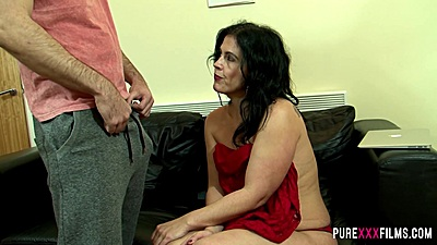 Latina milf Montse Swinger anxious to finally see cock in her face