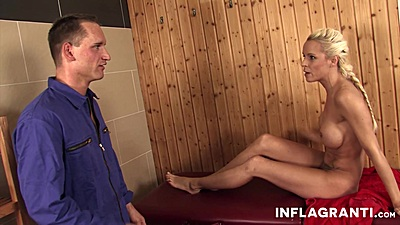 Mad Sophie Logan is on for dick at the sauna