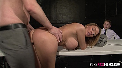 Cuckolded newly wed husband observes his wife for eternity Stacey Saran fucked by another guy