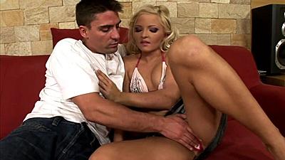 Fingering small chested blonde bombshell Nicki