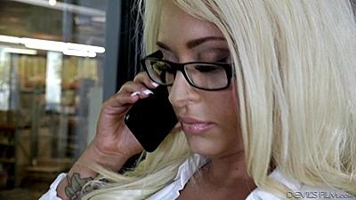 Office booty call with Brandi Bae