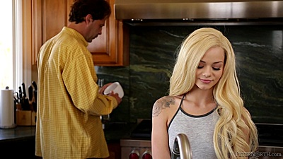 Blonde college babe Elsa Jean looking quite pretty