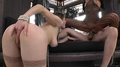 Nice slaves ready to lease a massive shaft Samantha Bentley and Chelsey Lanette
