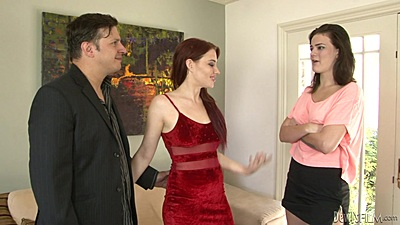 Husband brings home younger mistress Jessica Ryan