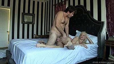 Sideways pussy fucking with raw girl Anikka Albrite