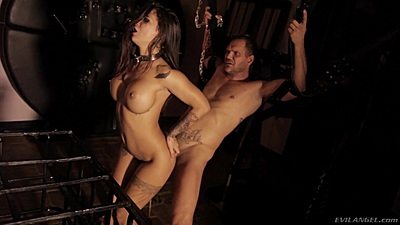 Fucking in fetish bdsm dungeon with Susy Gala