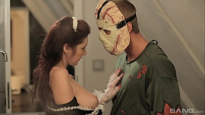 Scary halloween special with monster masks Kate Gold
