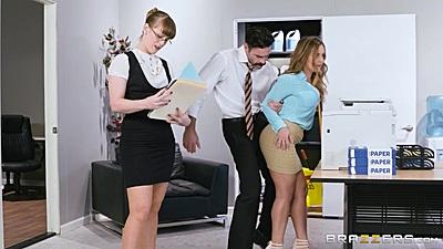 Office miniskirt initiation with Natasha Nice