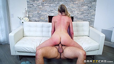 Lewd Brett Rossi cowgirl cock sitting and dick in mouth