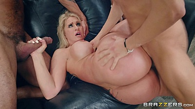 Aroused friends milf Ryan Conner in group entering her mifl holes