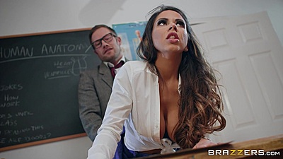 Learning the hard way of a teachers cock from behind Roxxy Lea