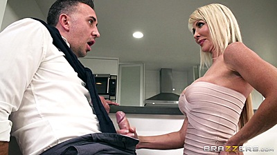 Blonde handjob with fully dressed wifes sister Tylo Duran