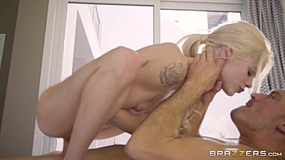 Cock jumping and kissing right on massage table with tight holes Elsa Jean