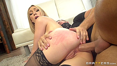 Sideways anal humping with trimmed hole blonde Lily Labeau