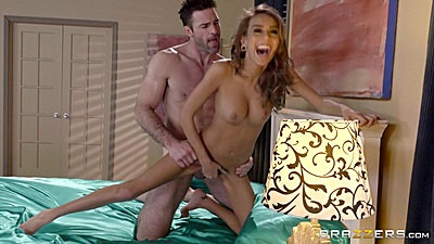 Happy pornstar Janice Griffith gets pumped from behind