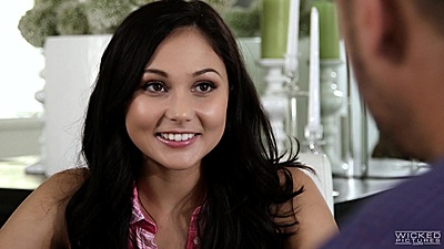 Smiling beauty Ariana Marie is cute and horny