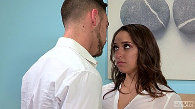 Brunette Sara Luvv in reunited 1 on 1 bf fuck