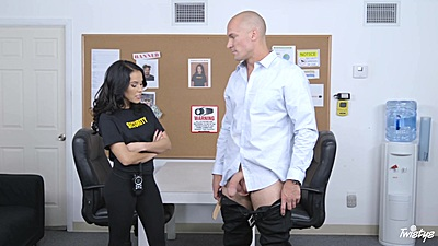 Megan Rain in great bouncing cock blowjob