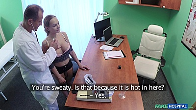 Groping some boobies during medical exam Katerina Muti