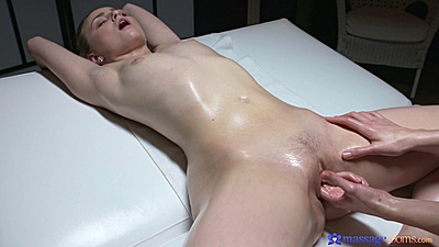 Russian client want full blown pussy fingering after oil massage Lady Bug and Alecia Fox