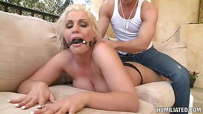This milf didnt know that we are going to chain her up