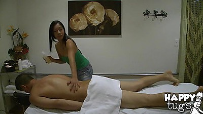 Dude is in a massage but he is getting happy ending