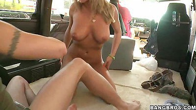 Bree olson sitting on cock cow girl style
