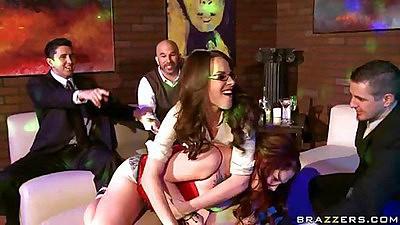 Hot milf lesbian pornstars Misti and Dana dildo fuck
