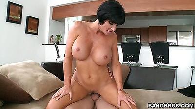 Best big tits milf Shay Fox sitting on cock