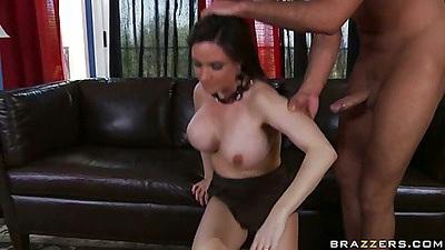 Reverse cowgirl Diamond milf fucking on carpet