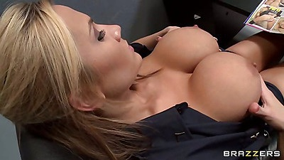 Big tits in uniform with inmate sex seduction